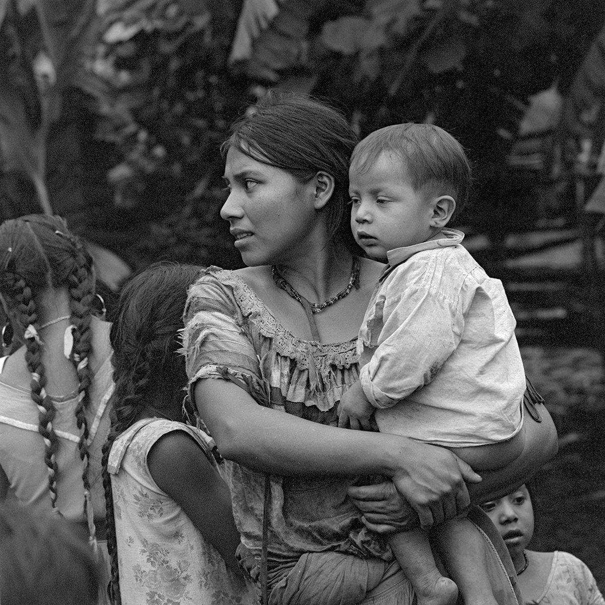 Mayan Mom and Her Son