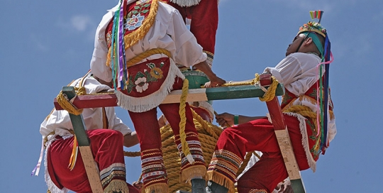 Flyers on Top of Pole