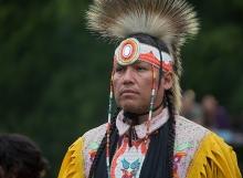 Grand Entry of Elder, Six Nations Powwow