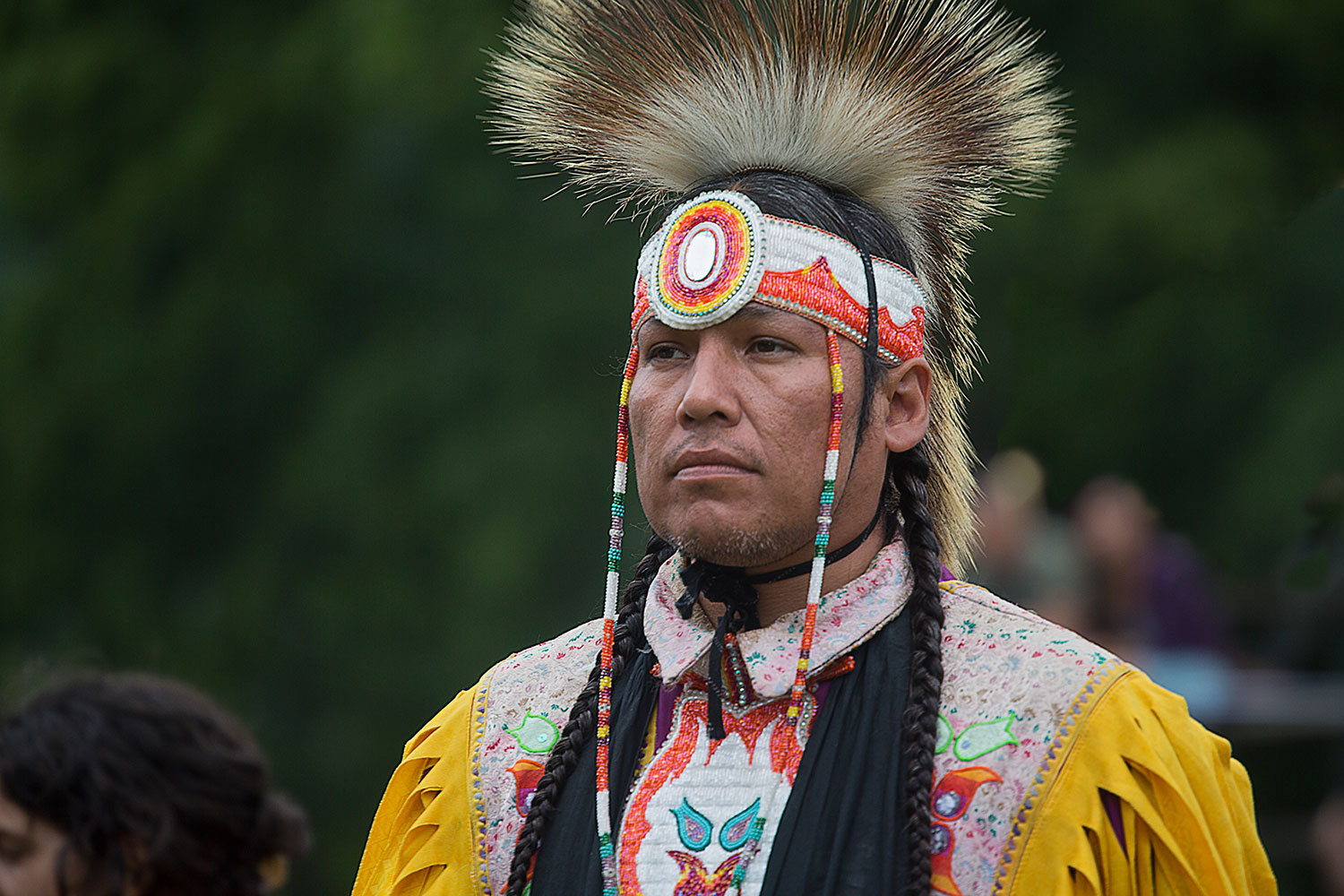 Grand Entry of Elder, Six Nations Powwow