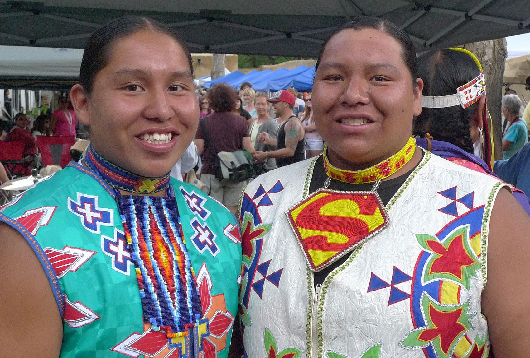 Two Dancers at Indian Market - Santa Fe, NM