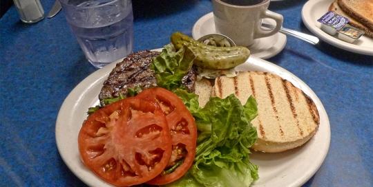 Bison Burger at Skylight Diner, NYC