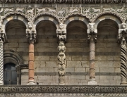 Columns on Lucca Cathedral