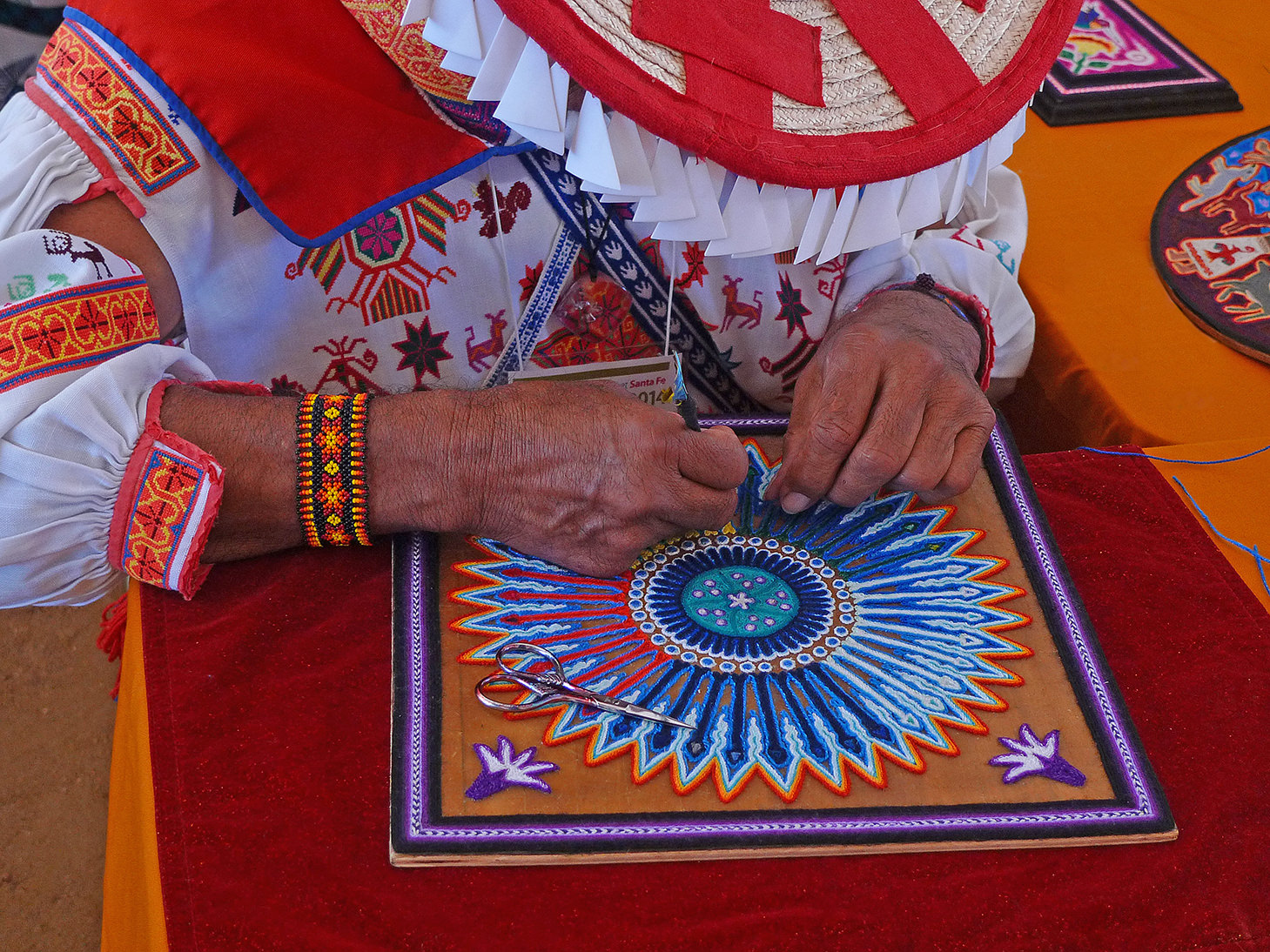 Huichal Artist at International Folk Festival