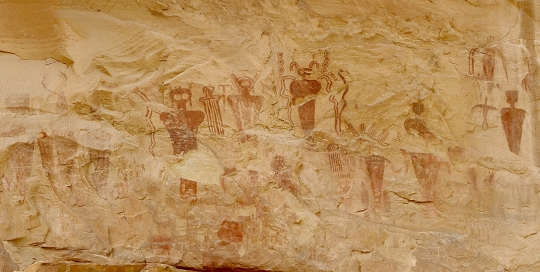 Pictographs at Butler Wash