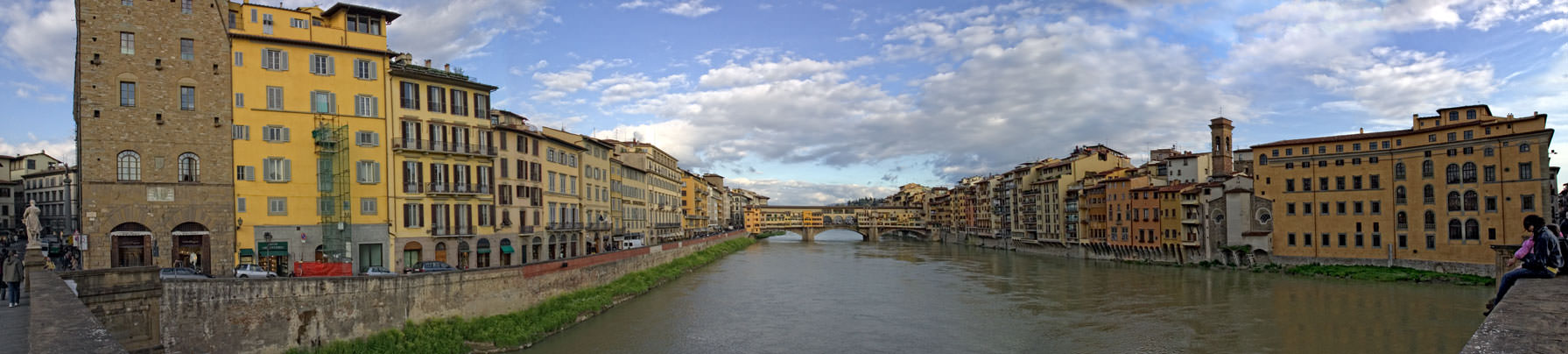 Ponti Vecchio from Ponte Santa Trunita