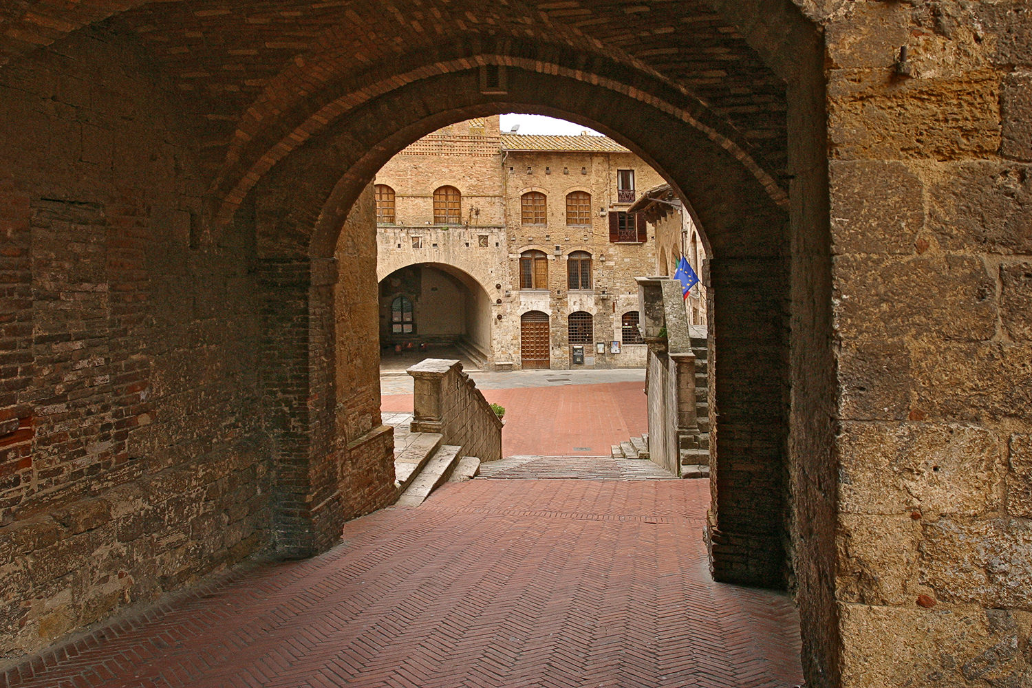 Stairs to Plaza, San Gimignano