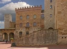 Stairs to Plaza, San Gimignano