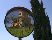 Tuscan Mansion in Mirror