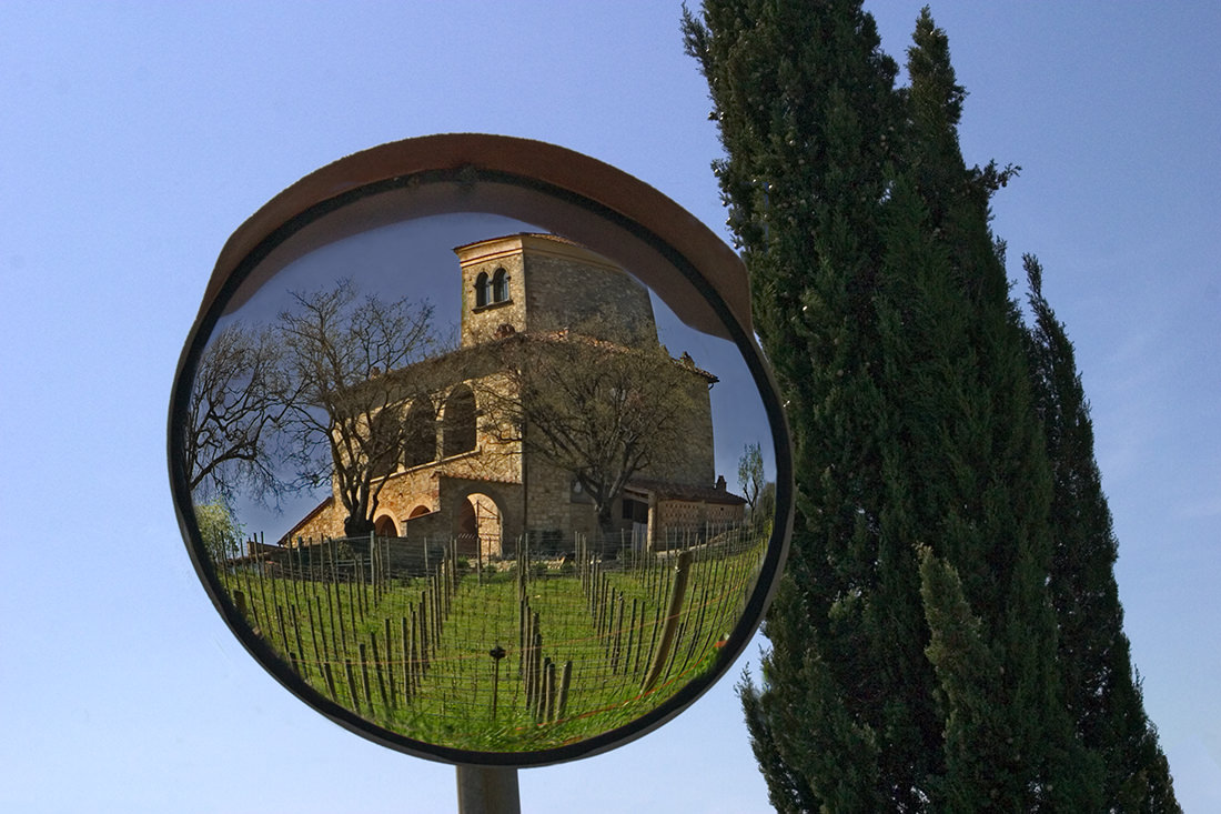 Tuscan Mansion in Mirror
