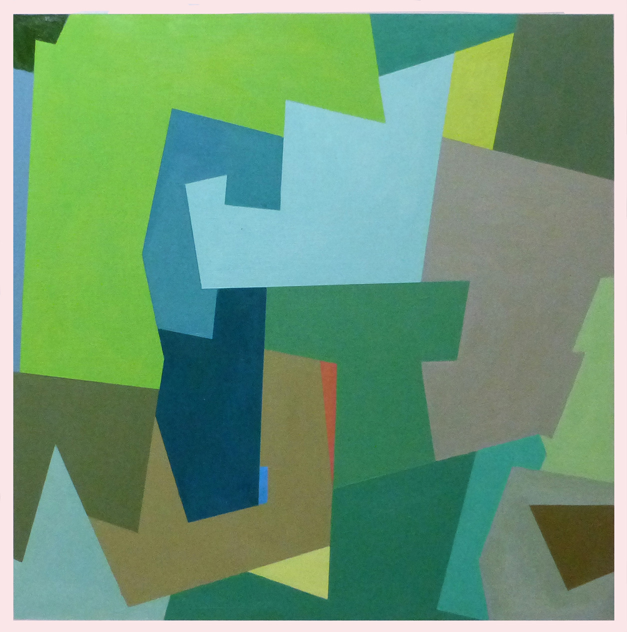 2 - Square Series - Green Painting - SOLD